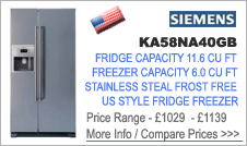 Siemens KA58NA40GB American Fridge Freezer