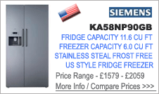 Siemens KA58NP90GB American Fridge Freezer