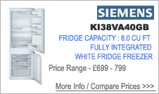 KI38VA40GB Siemens Fridge Freezer